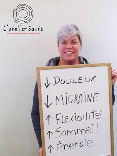 Témoignage, L'atelier Santé, Chiropraticiens à Beloeil